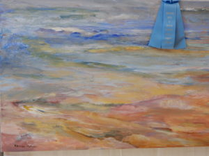 Karen Berman-Mulligan won first place in the Acrylic/Oil/Pastel category --titled Receding