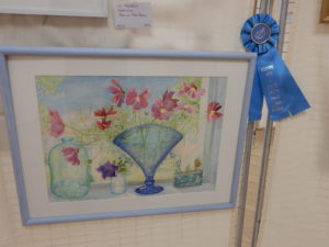 Patricia MacQueen received first place in the watercolor category for this beautiful work