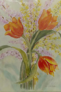 Spring Fling, watercolor by Maria Miller