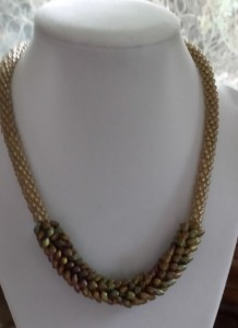 This stunning necklace was made by Alyce McLaughlin and was a raffle item at Bedford Day